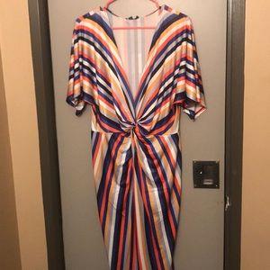 Low cut striped dress